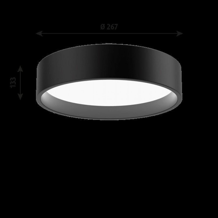 Takarmatur LP Circle LED - Ø450mm Svart (186-1083-699)